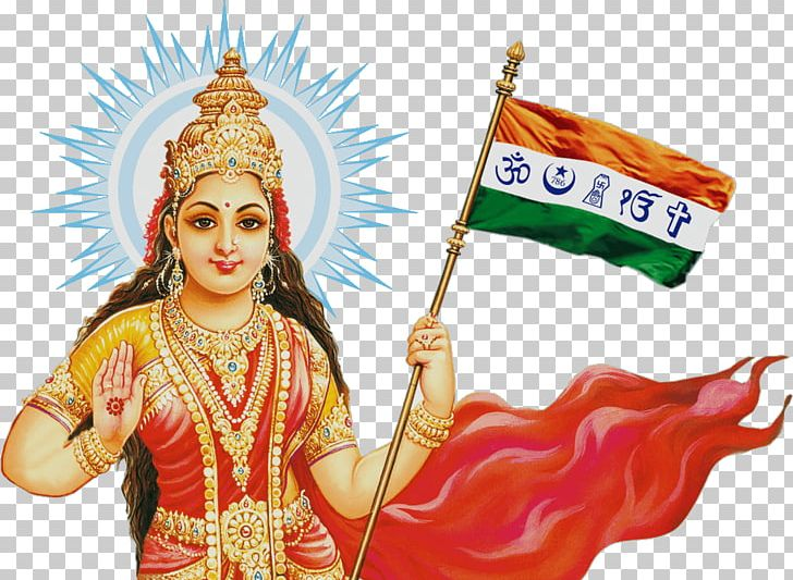 Mother India Bharat Mata Indian Independence Movement PNG.