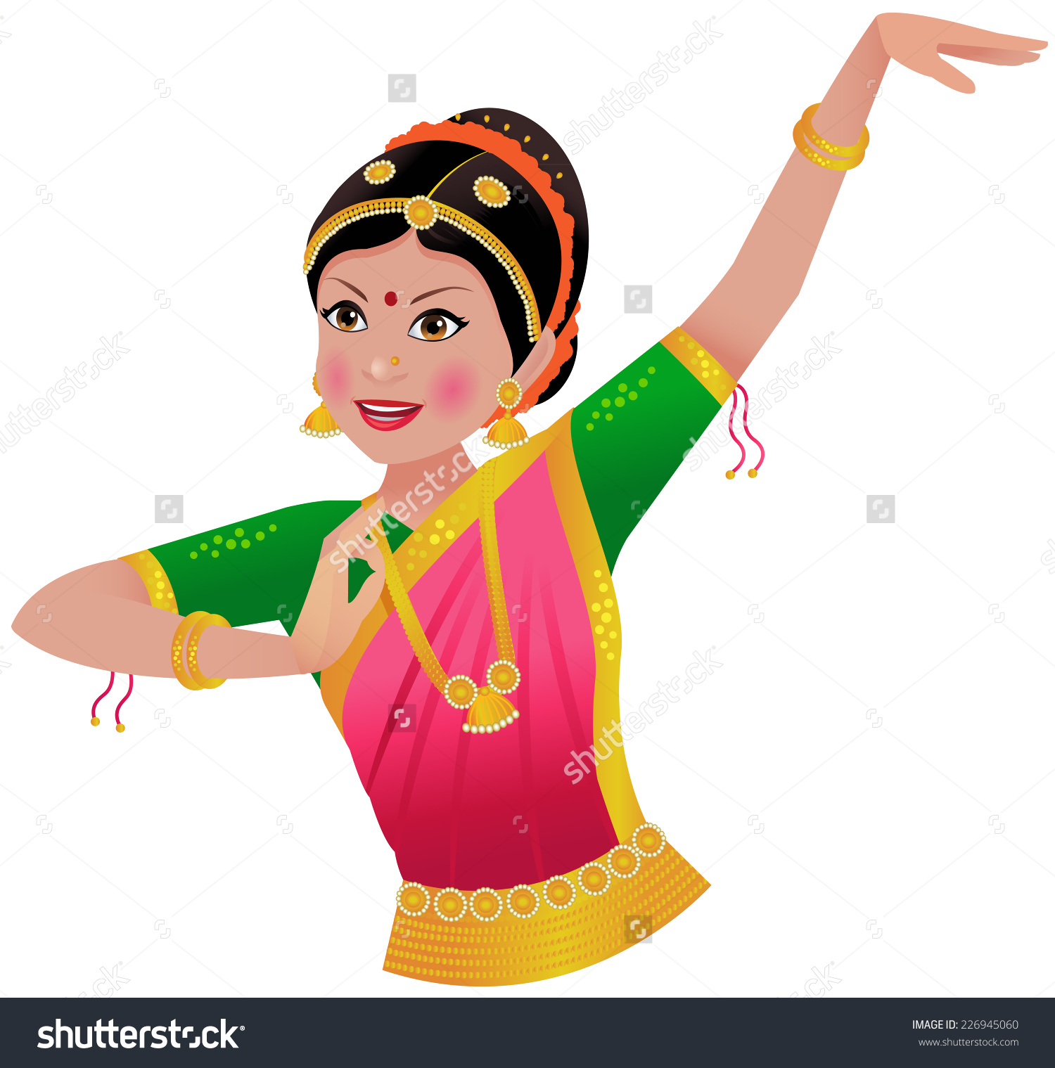 Indian classical dance bharatanatyam clipart 8 » Clipart Station.