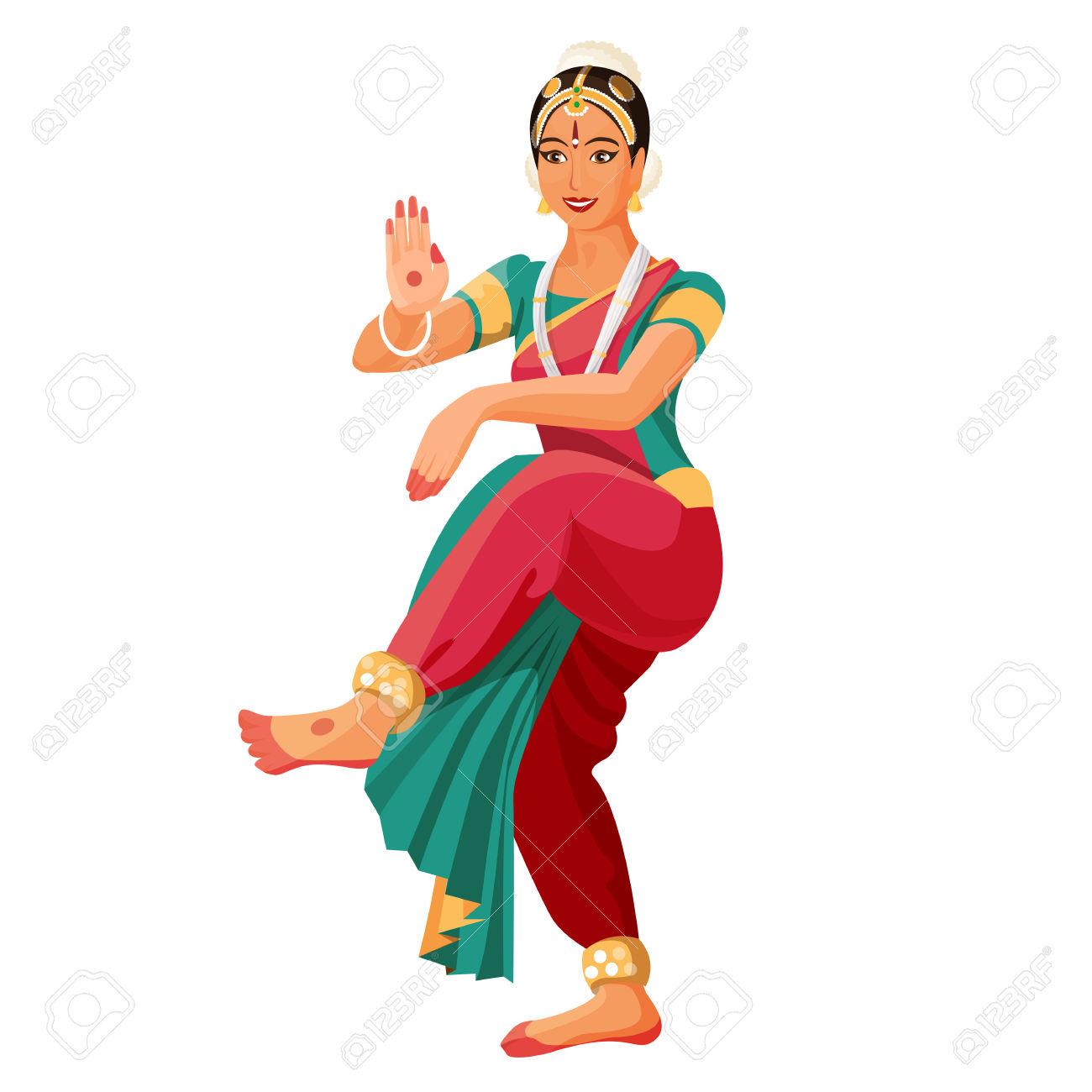 Bharatanatyam Dancer Clipart.