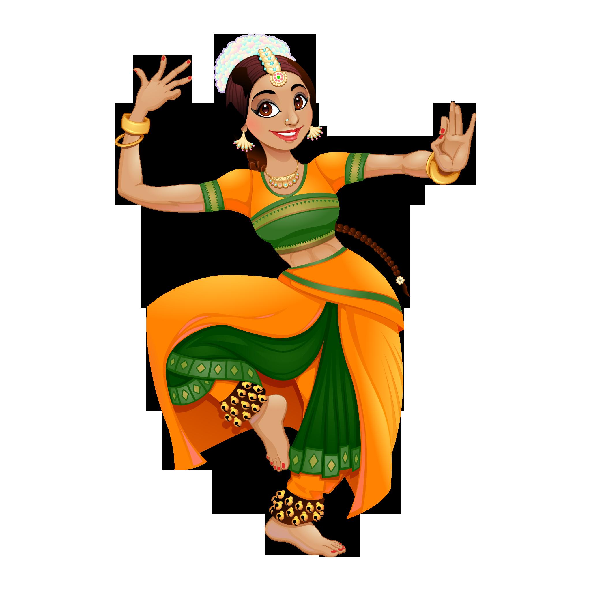 Bharatanatyam Dance PNG.