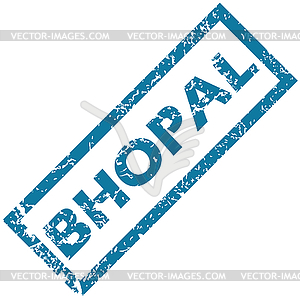 Bhopal rubber stamp.