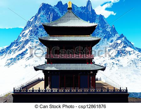 Buddhist monastery Clip Art and Stock Illustrations. 455 Buddhist.