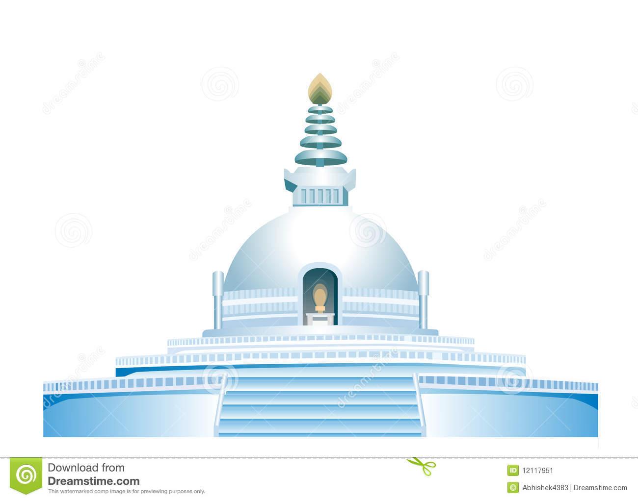 Buddhist temple clipart.