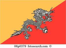 Flag bhutan Clipart and Illustration. 209 flag bhutan clip art.