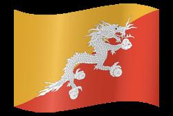 Bhutan flag clipart.