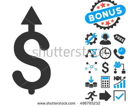 Dollar Pictograph Bonus Clip Art Vector Stock Vector 487991053.