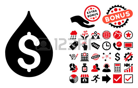 Money Drop Icon With Bonus Clip Art. Vector Illustration Style.