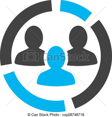 Vector Clip Art of Demography diagram icon from Business Bicolor.
