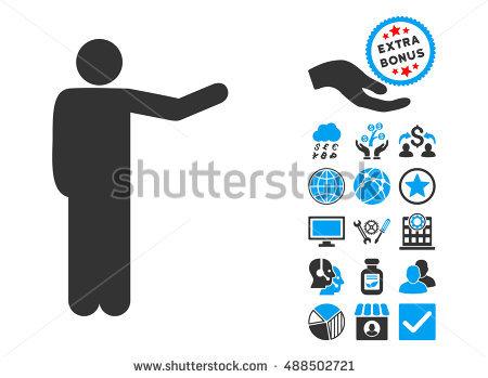 Man Pictograph Bonus Clip Art Vector Stock Vector 488270119.