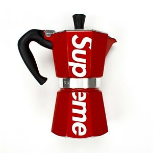 Details about NWT Supreme NY Red Box Logo Bialetti Moka Express Coffee  Maker SS19 DS AUTHENTIC.
