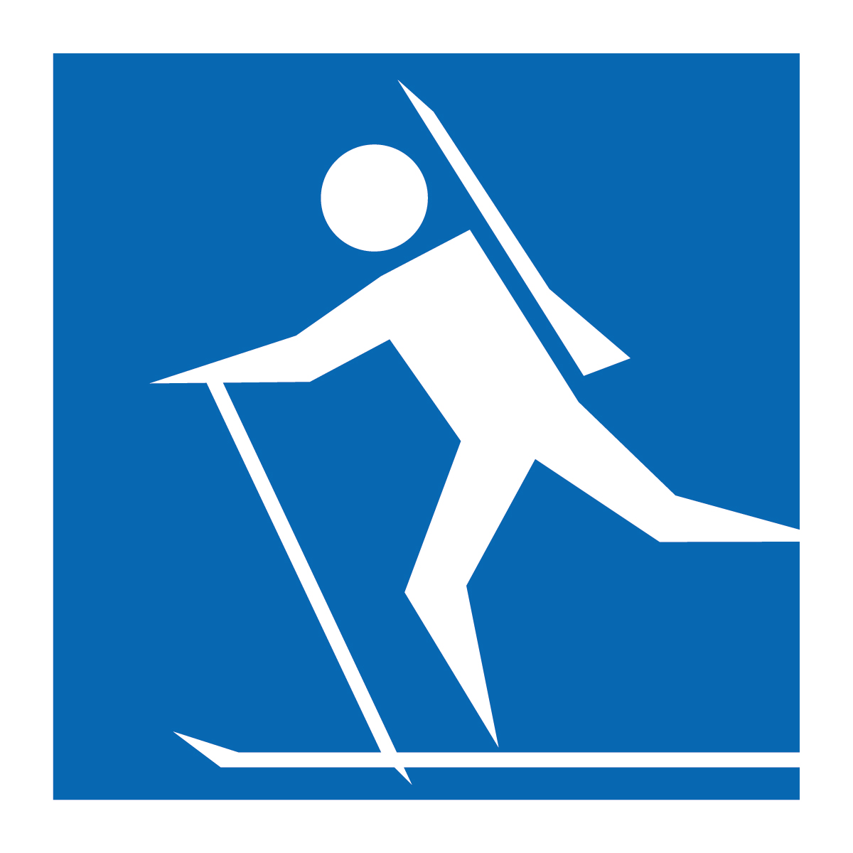 Clip Art: Winter Olympics: Biathlon (coloring page).