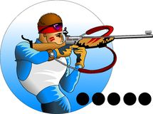 Biathlon Stock Illustrations.