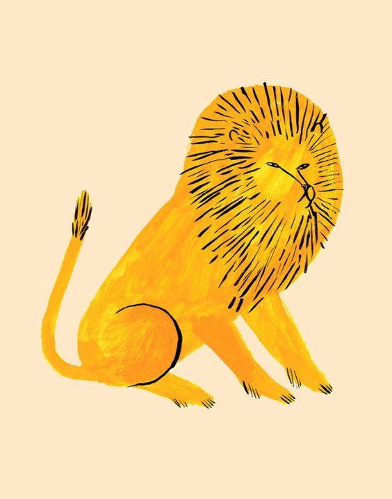 Bibelot: Jen Collins Interview. #Illustration #Illustrator #Lion.