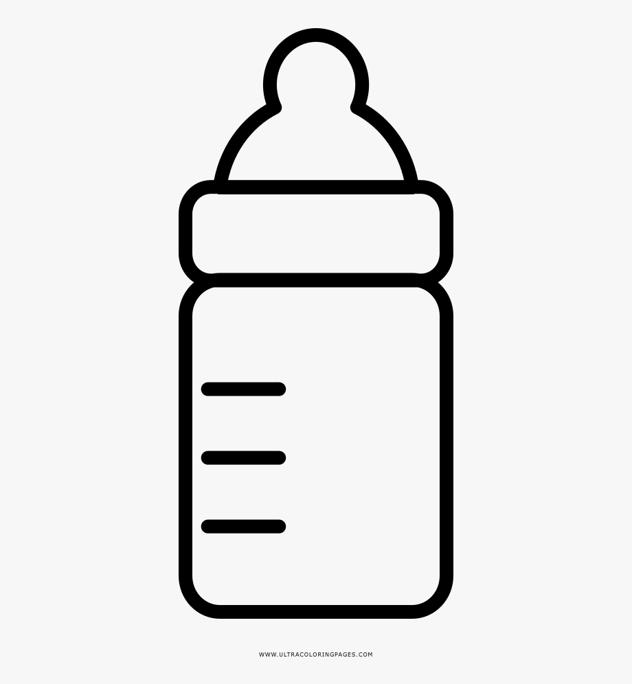 Baby Bottle Coloring Page.