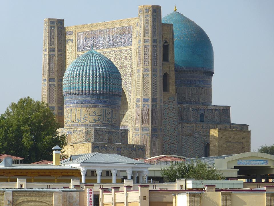 Free photo Samarkand Mosque Uzbekistan Bibi Xanom Building.