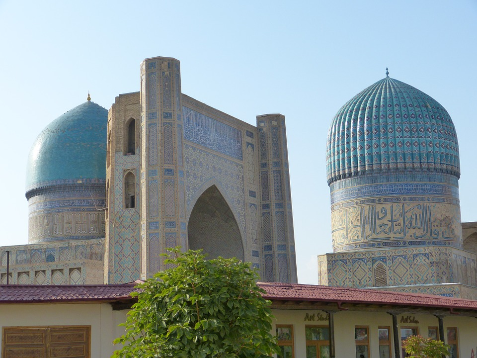 Free photo Bibi Xanom Uzbekistan Building Samarkand Mosque.