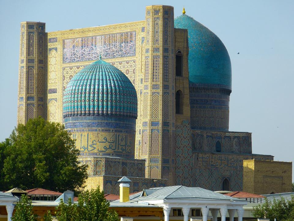Free photo Samarkand Mosque Uzbekistan Building Bibi Xanom.