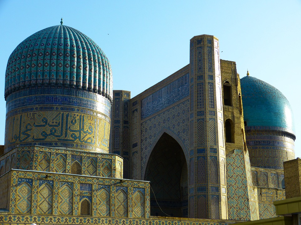 Free photo Uzbekistan Building Mosque Bibi Xanom Samarkand.