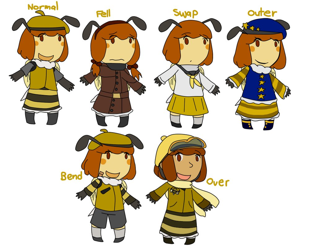 Undertale OC] the many AUs of Bibi by poi.
