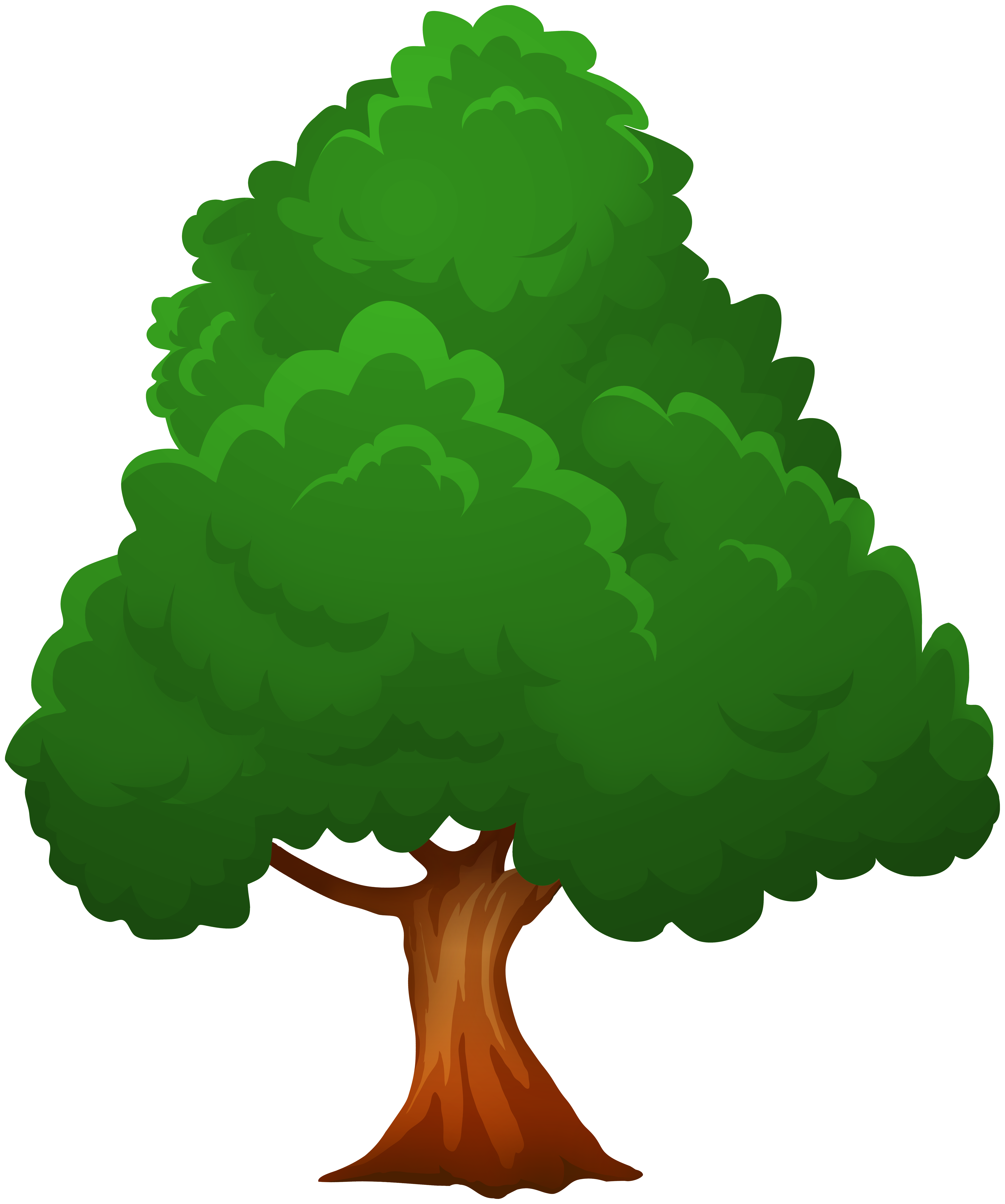 Big Green Tree PNG Clip Art.