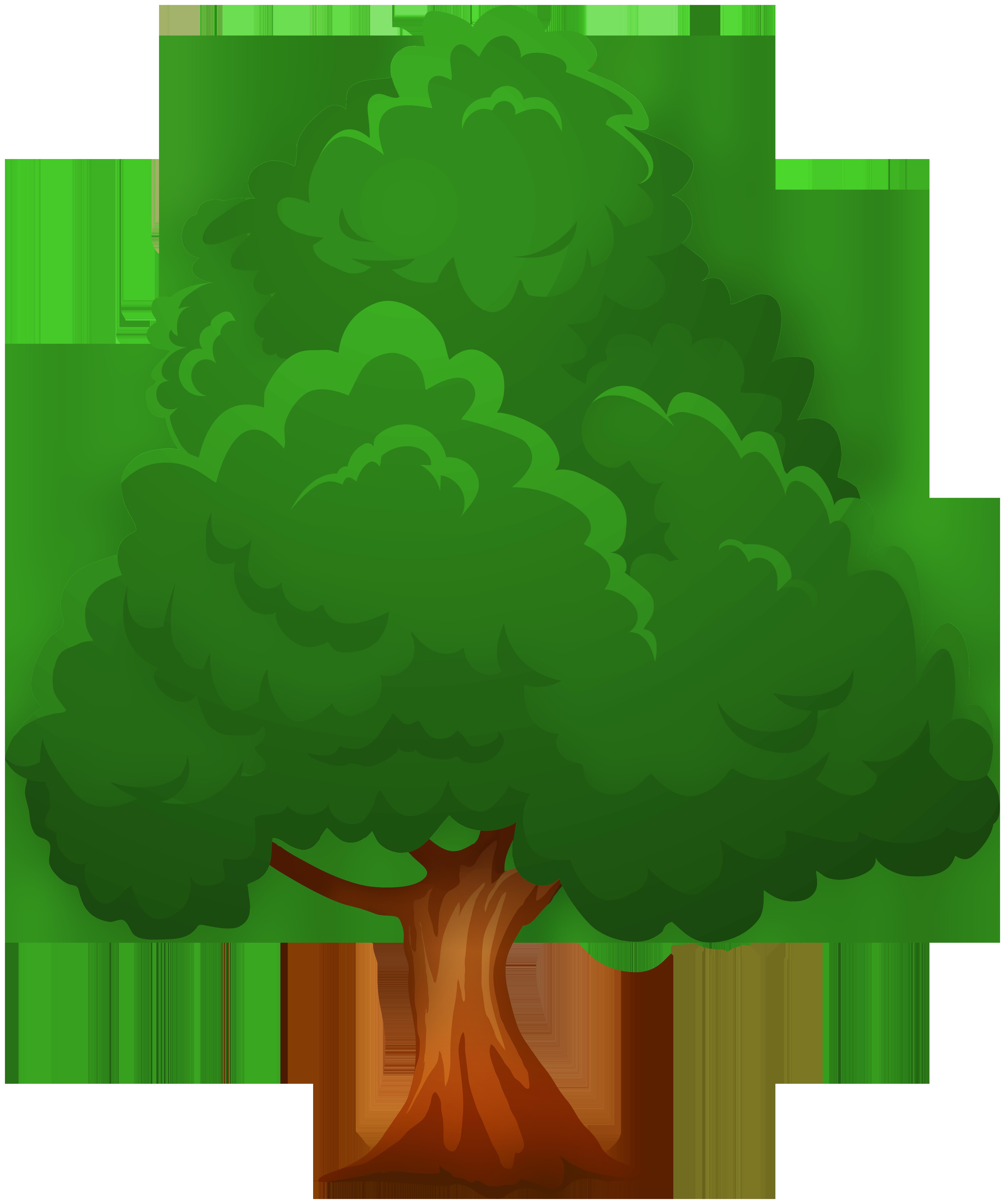 Big Green Tree PNG Clip Art.