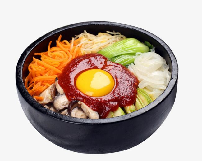 Bibimbap, Pork Rice, Korean Food PNG Transparent Clipart.