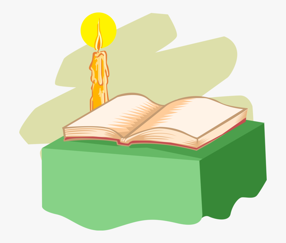 Bible And Candle Clipart , Transparent Cartoon, Free.