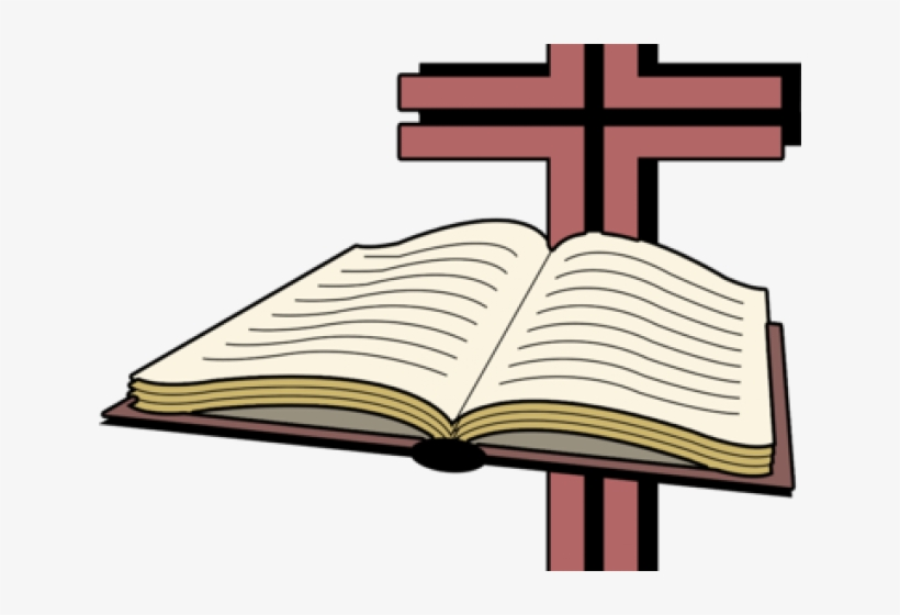 Bible With Cross Clip Art Library Download.