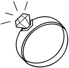 14 Gambar Wedding Ring Coloring Pages terbaik.