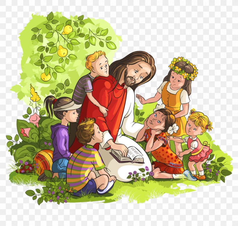Teaching Of Jesus About Little Children Bible Clip Art, PNG.