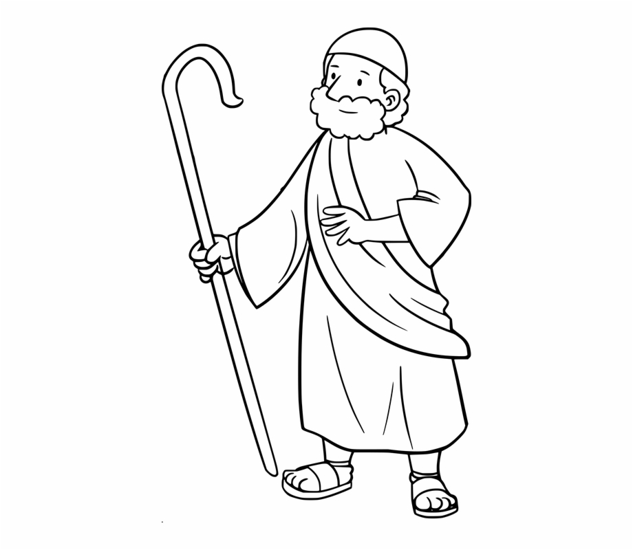 Bible Comic Characters Moses.
