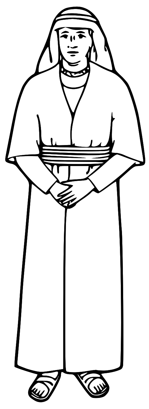 Bible Characters Png Black And White & Free Bible Characters Black.