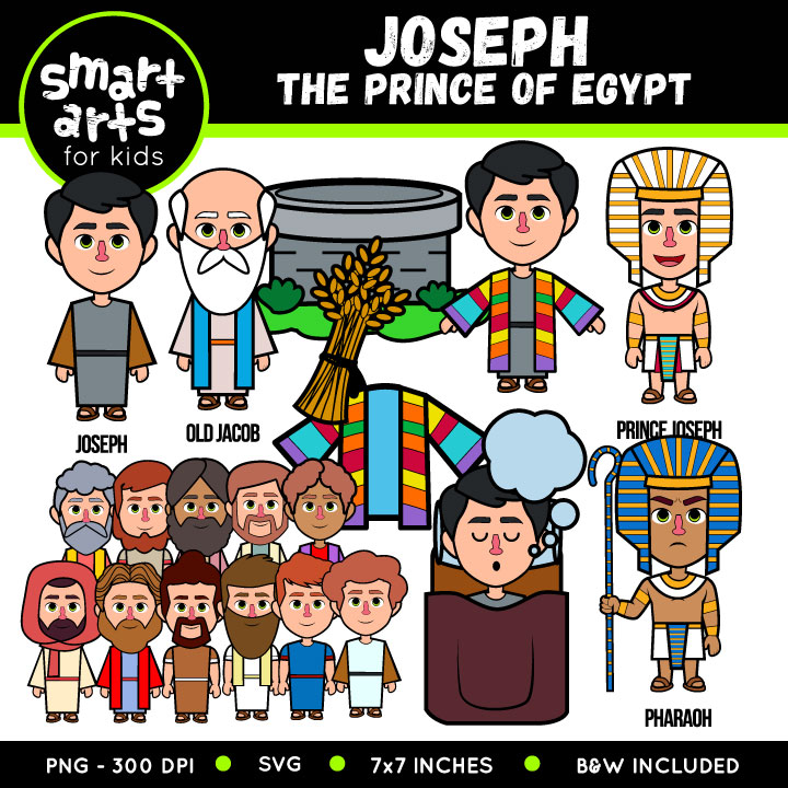 Joseph The Prince of Egypt Clip Art.