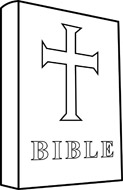 Free Black and White Religion Outline Clipart.