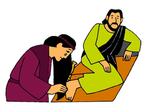 A Sinful Woman Washes the Feet of Jesus.