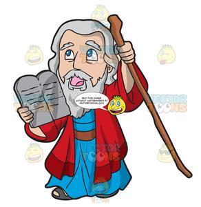 Moses Holding The Ten Commandments.