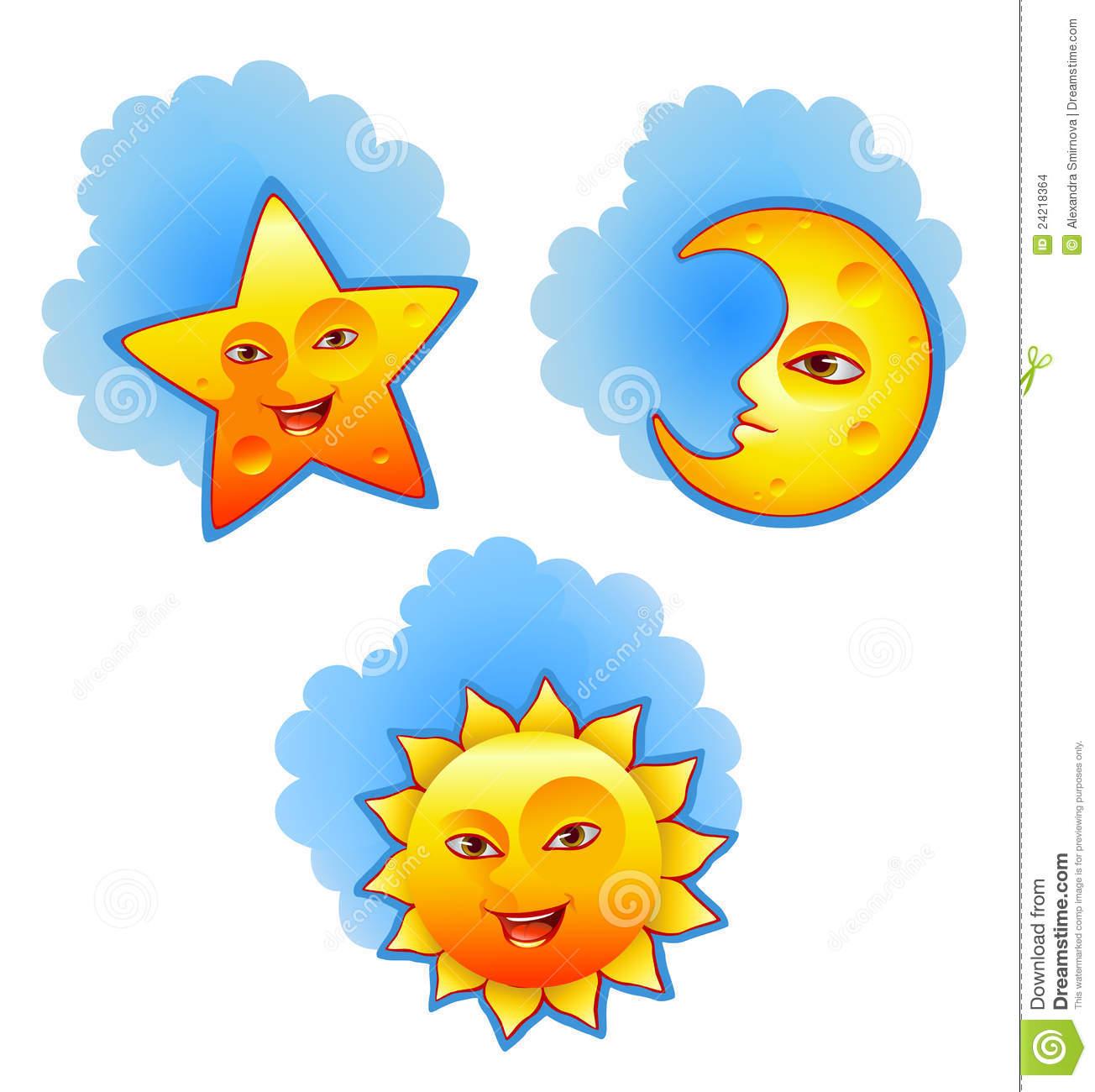 Sun Moon Star Clipart.