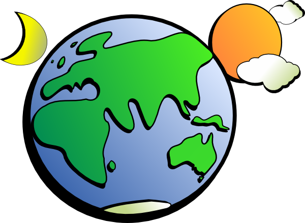 Sun Moon Earth Clipart.
