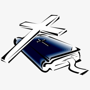 Cross Bible Clipart Black And White.