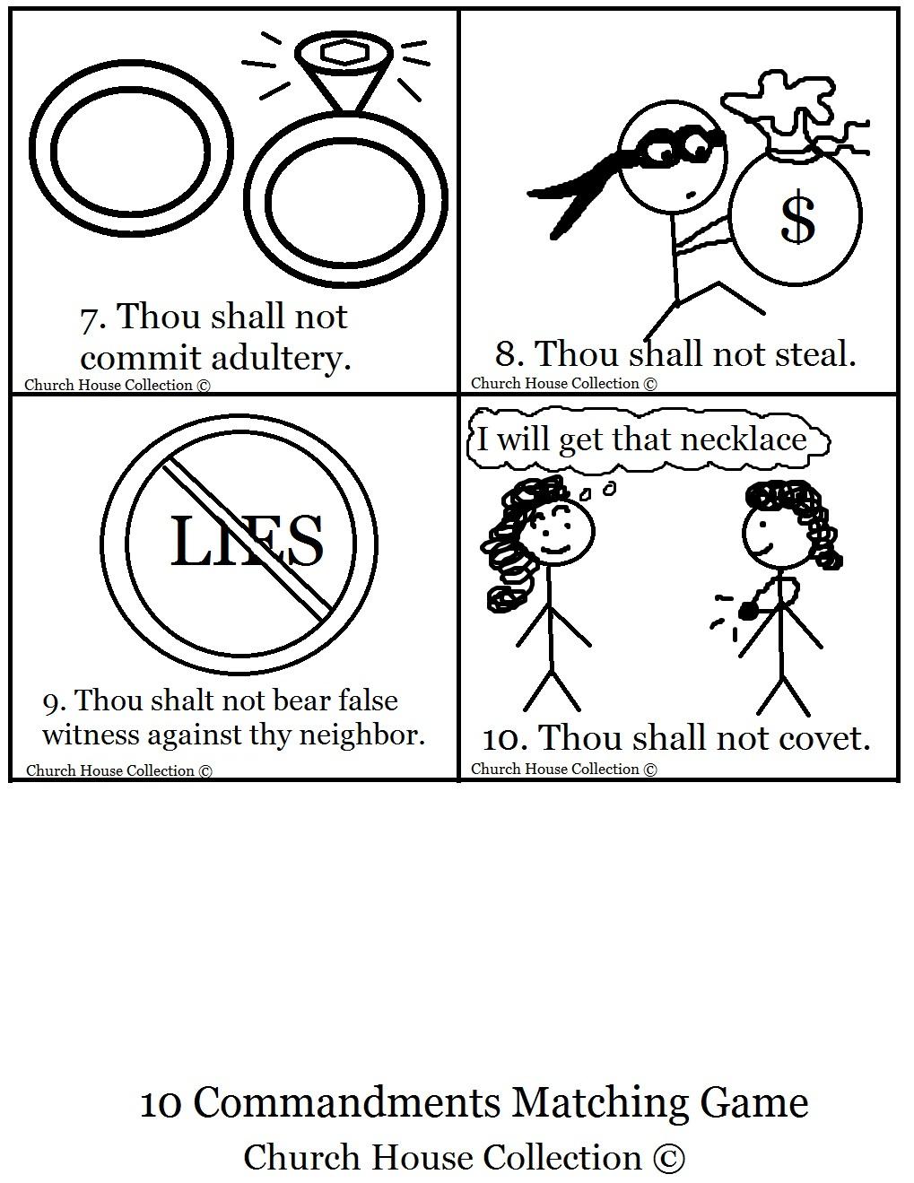 10 Commandments Bible Clip Art.
