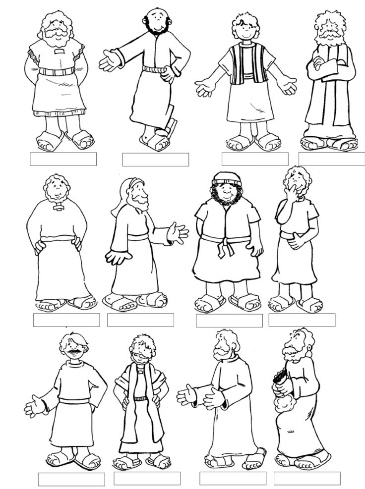 Bible Character Clip Art.