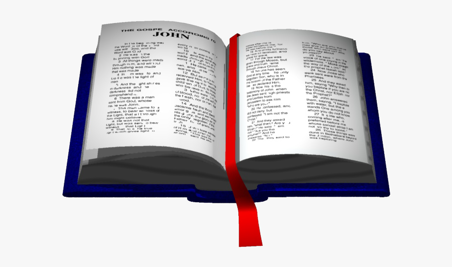 Amazing Free Open Bible Clipart Illustration.