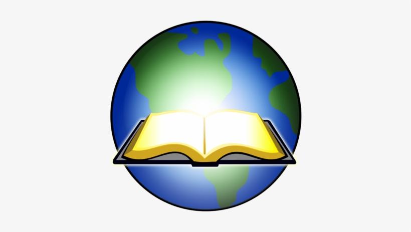 Open Bible Lights Up Globe.