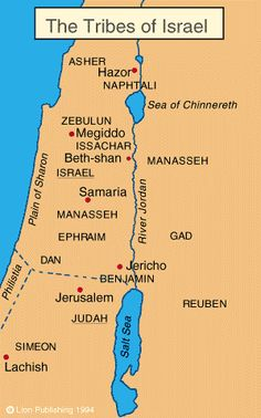 Map Of Bible Israel Clipart.