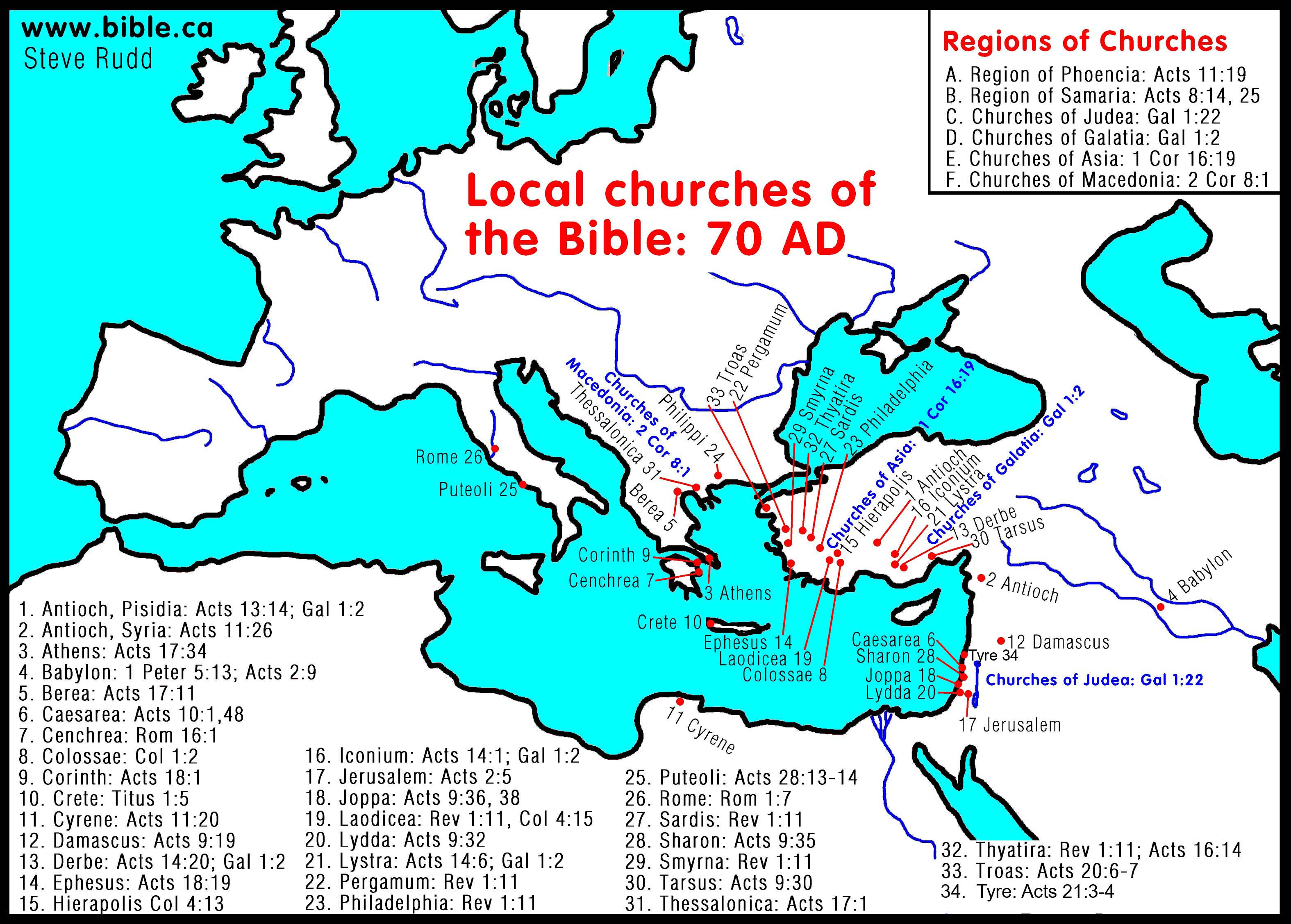 Free Bible Maps of Bible Times and Lands.