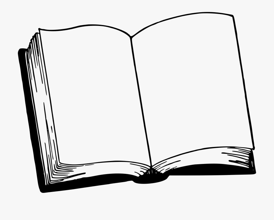 Open Bible Clipart Image.