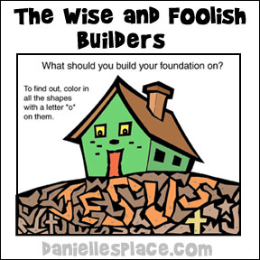 The Wise and Foolish Builders Bible Crafts and Activities for.