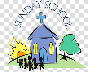 Sunday School transparent background PNG cliparts free.