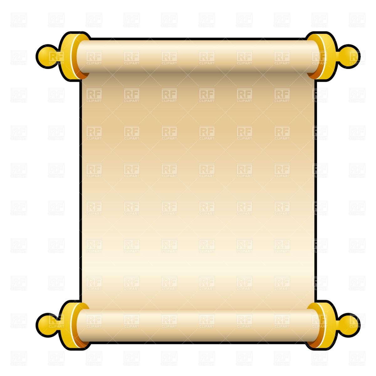 Ancient parchment scroll Stock Vector Image.