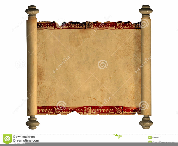 Bible Scroll Clipart.